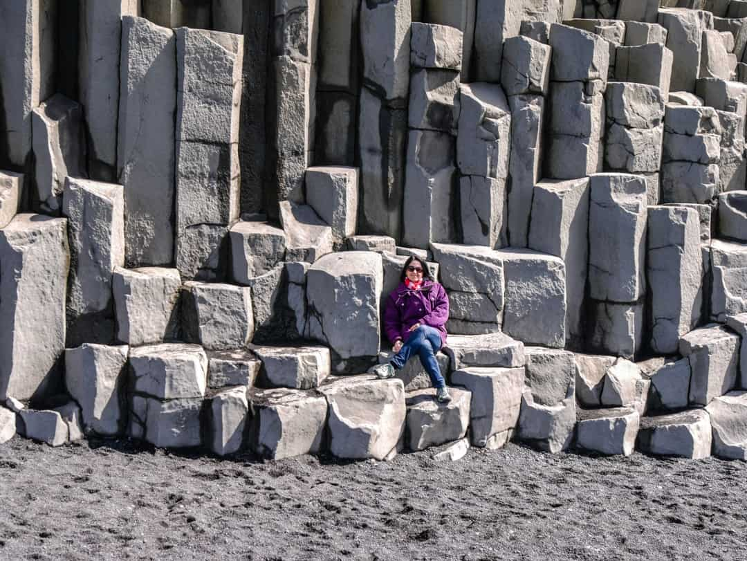 sitting on the basalt columns