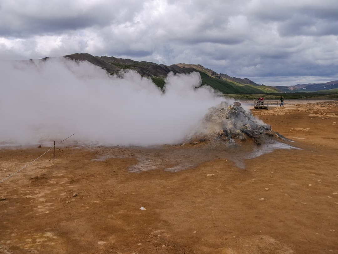 fumeroles at geothermal park