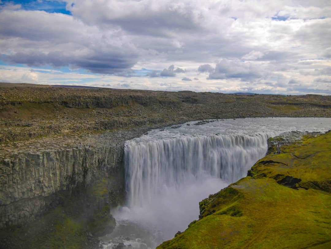 huge falls of dettifoss