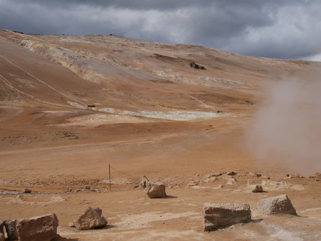 landscape at geothermal park