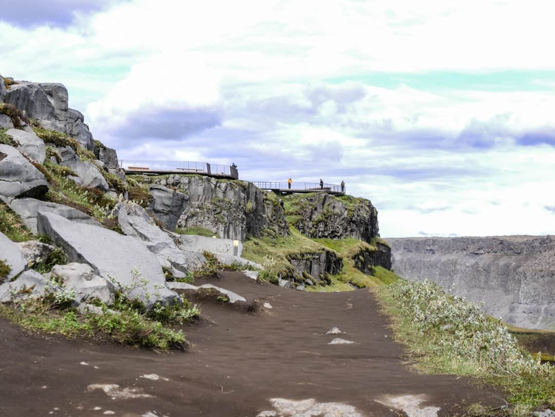 lookout point at dettifoss