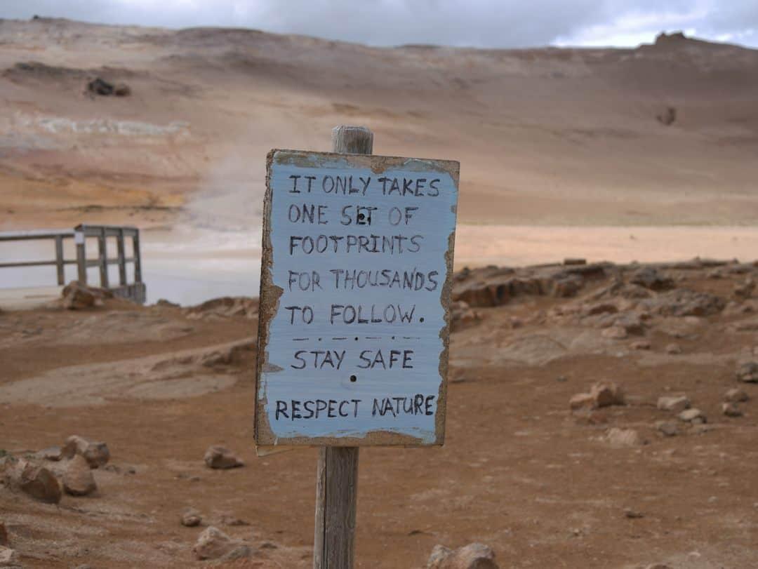 sign at myvatn