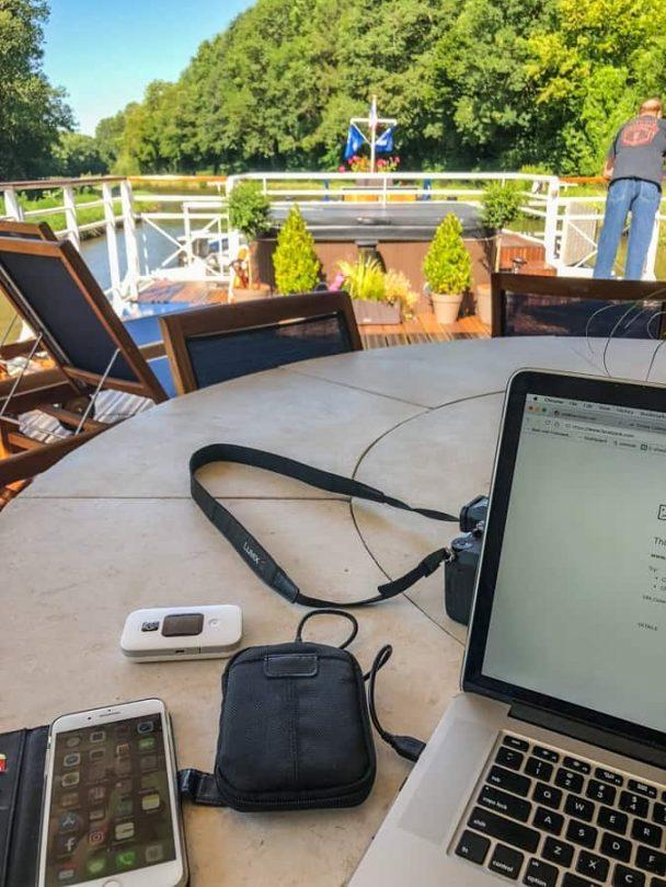 using travel wifi on a luxury barge
