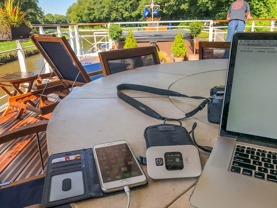 working with wifi hotspot on barge