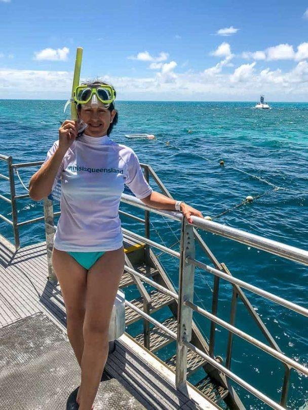 Kerri going snorkelling