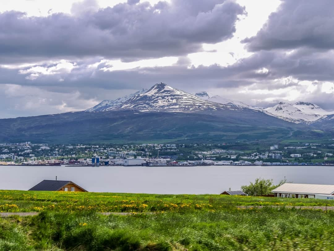 akureyri from opposite side