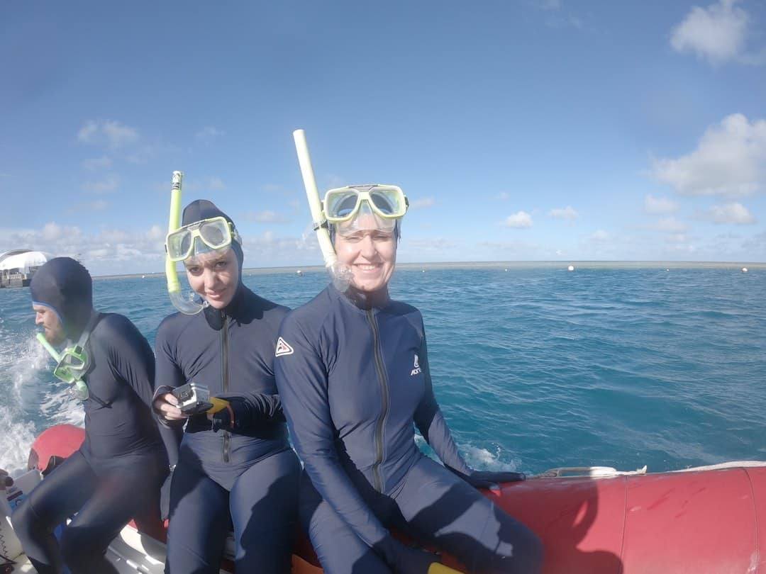 stinger suits ready for snorkelling