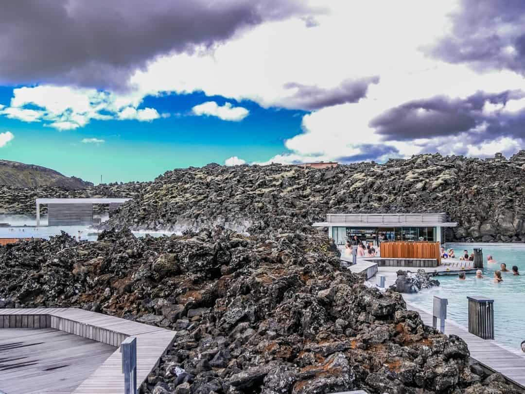 lagoon built into the lava ground
