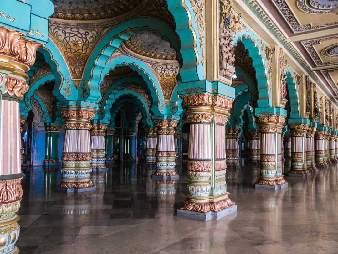 Mysore palace beautiful columns