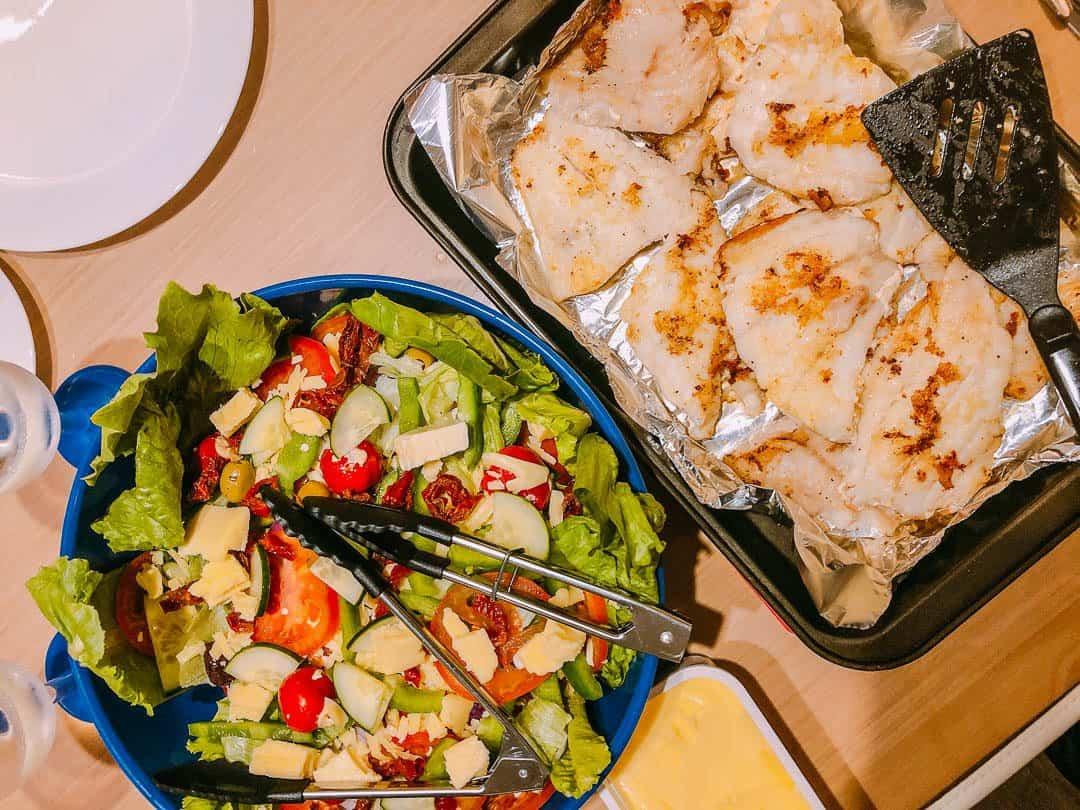 captain cooked food on bareboat - yacht hire whitsundays