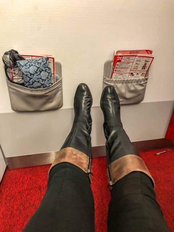 legroom behind the bulkhead