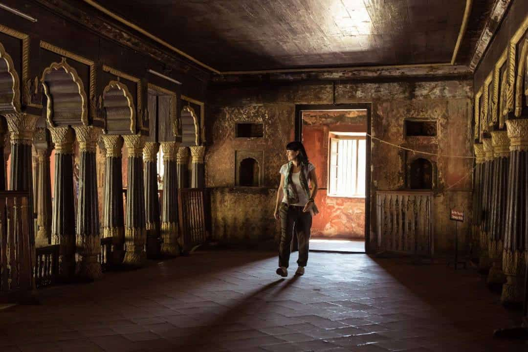 Walking inside the Durbar Hall. Photo by Jinson Abraham.