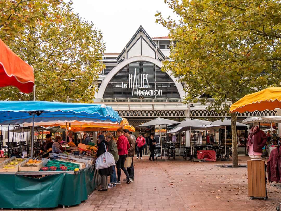 les halles market at archachon