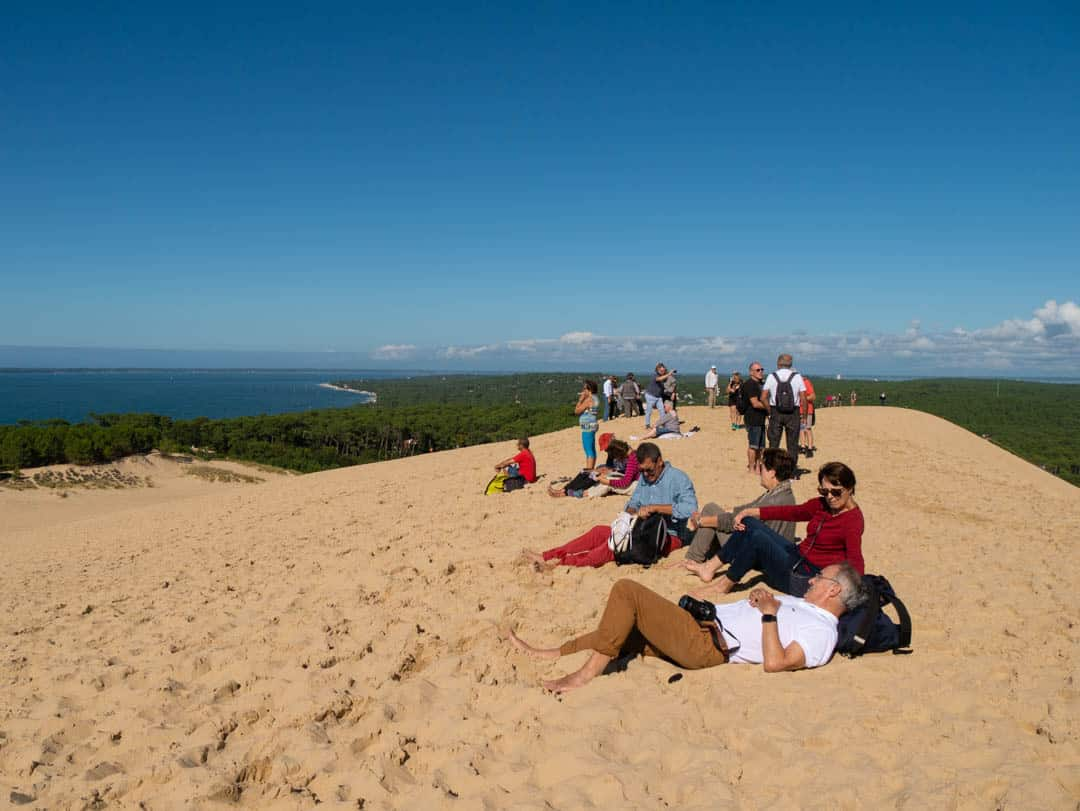 people hanging out at dune du pilat