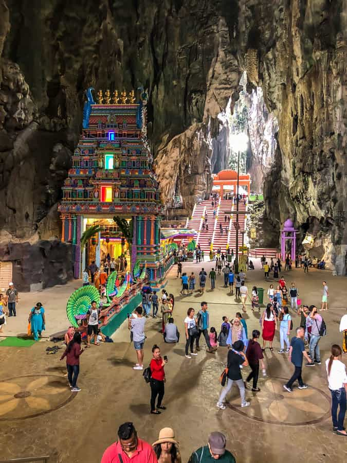 showing height of inside batu caves