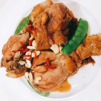 Vietnamese lemongrass chicken with chilli