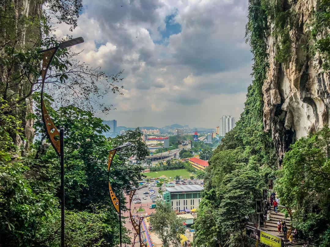 view from the top of batu caves