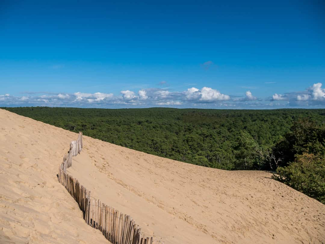 view starting to appear on the dune du pilat