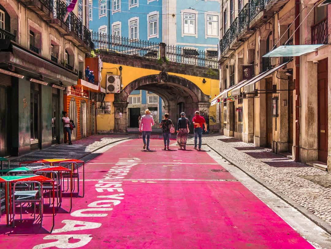 pink street Rua Nova do Carvalho