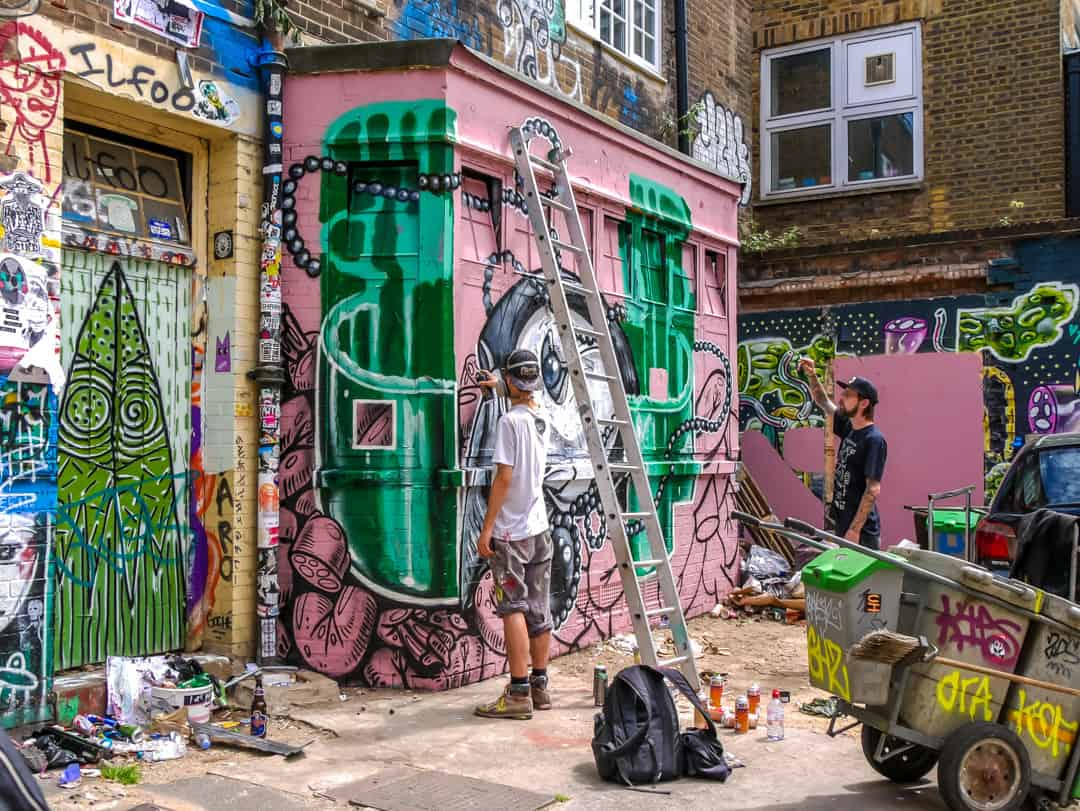 artists in action - brick lane street art
