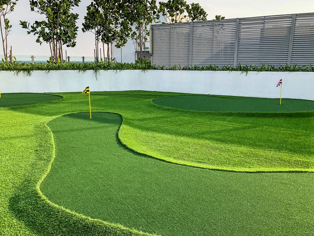 golf course on the roof air asia