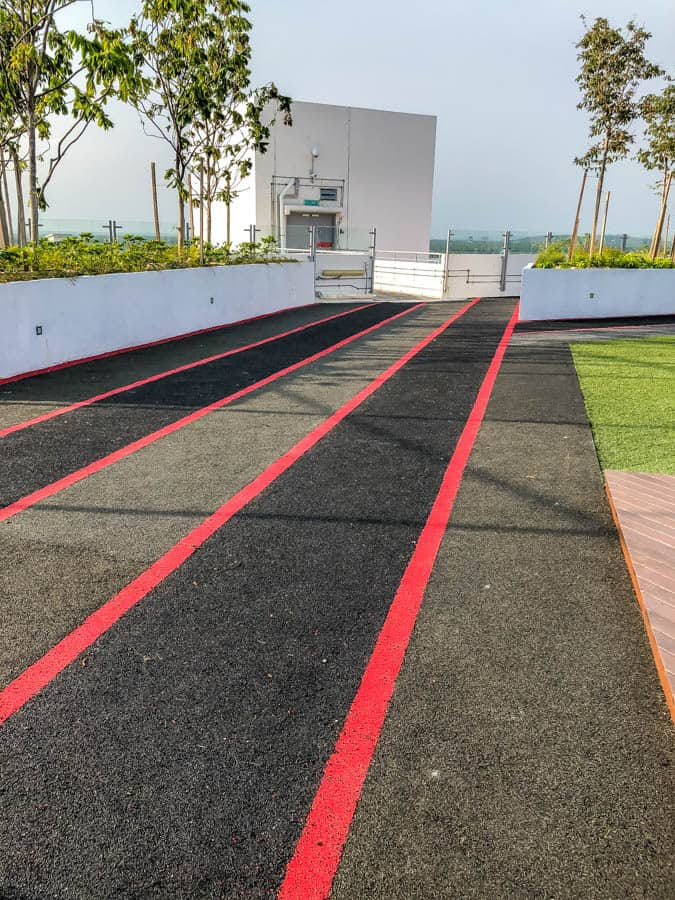 running track on roof