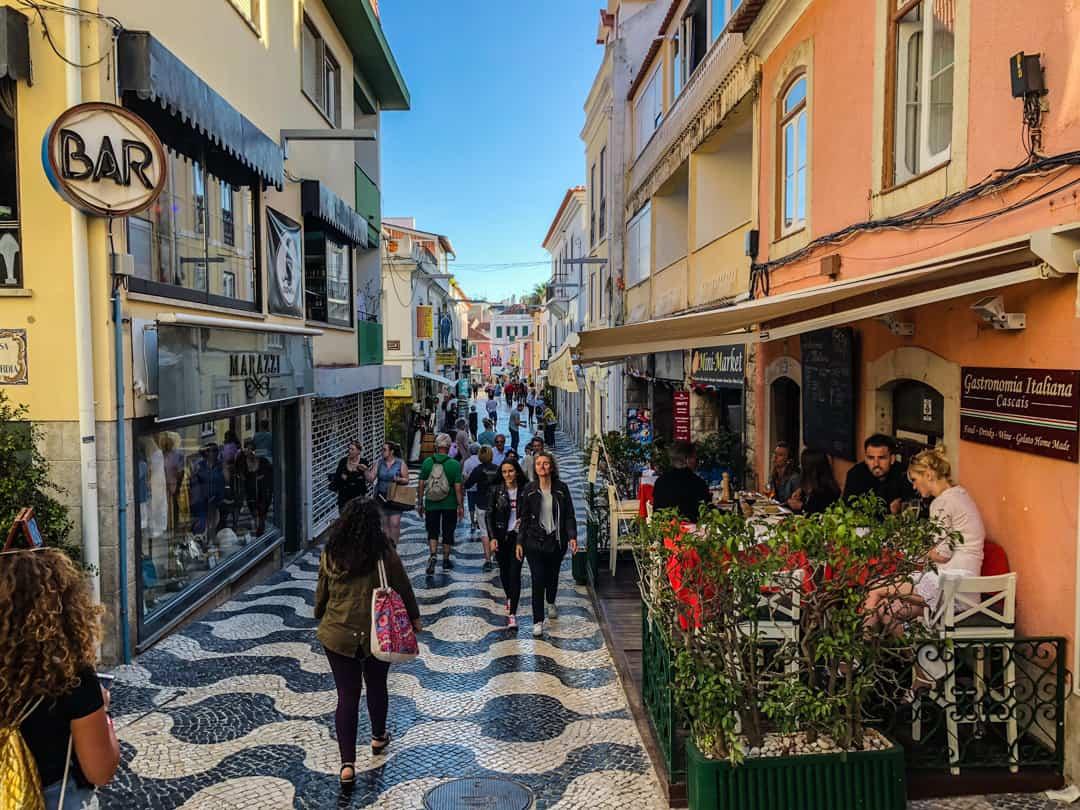 Cascais cobbled streets