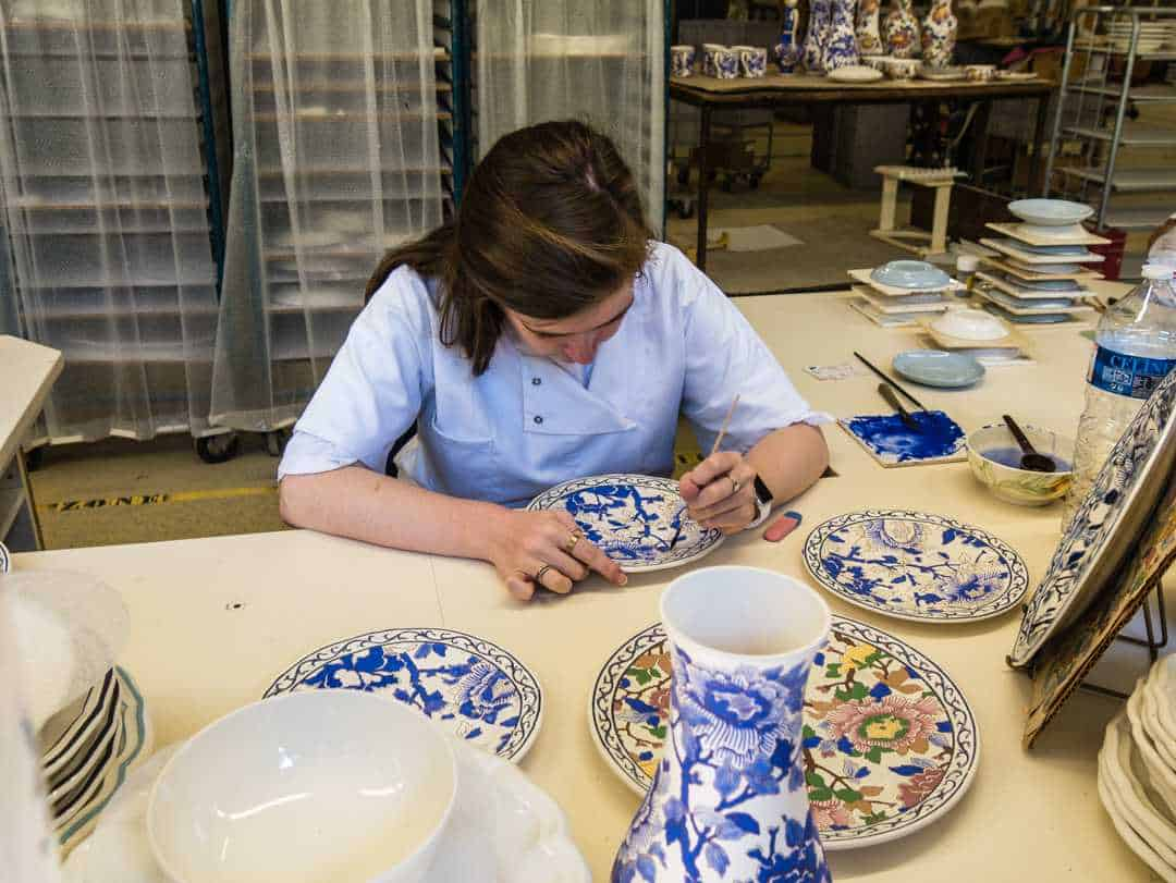 visiting the gien pottery factory