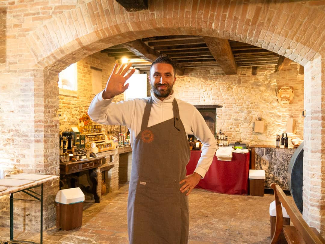 Emanuele one of the owners of the formaggio di fossa
