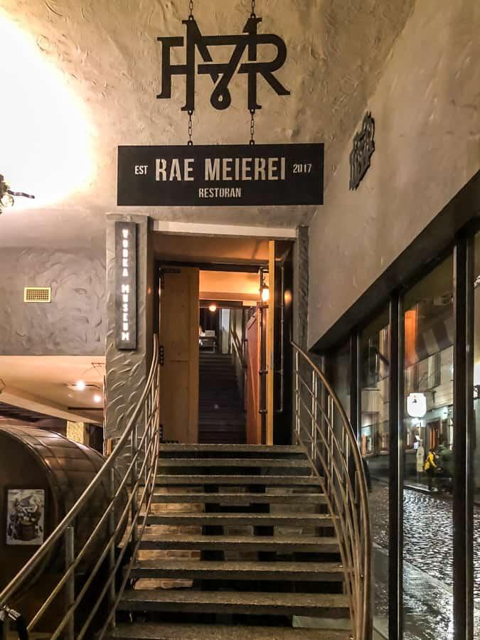 Rae Meierei inside staircase