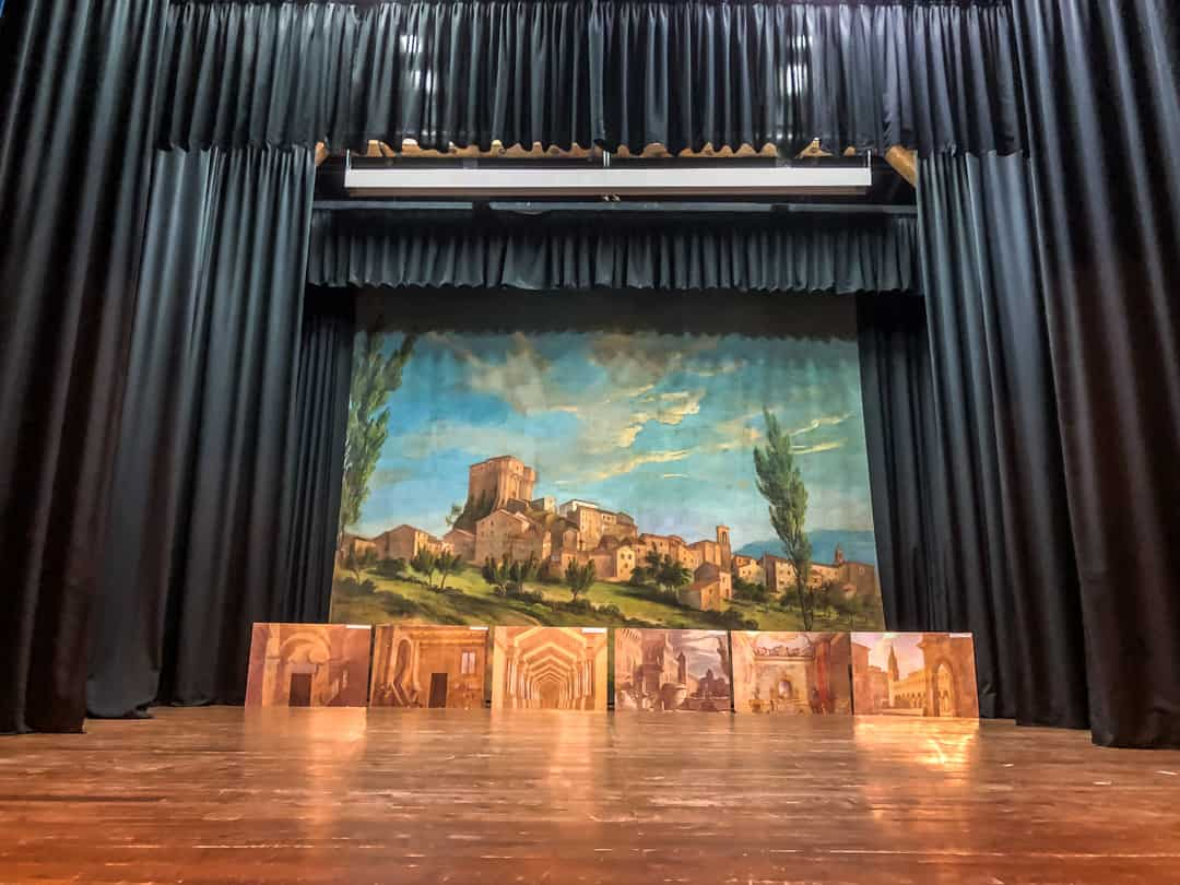 backdrop on stage at theatre