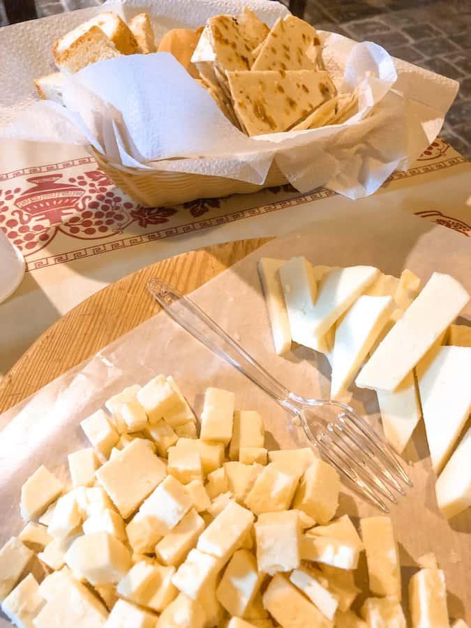 cheeses at formaggio di fossa