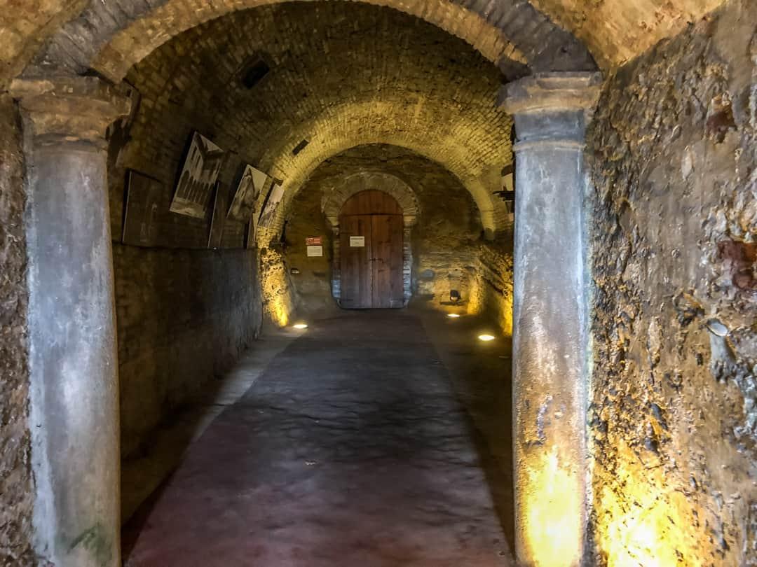 in the underground cave