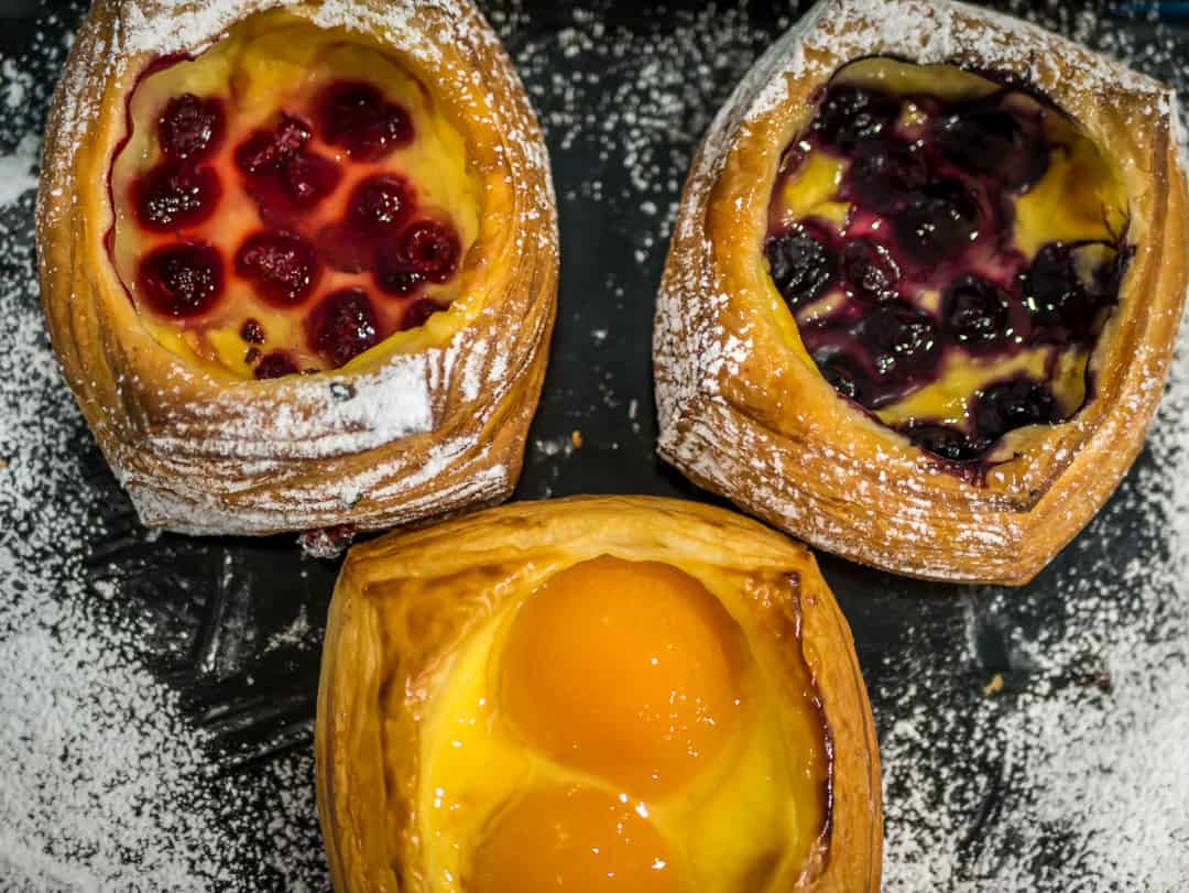 danish in the best French bakery Brisbane