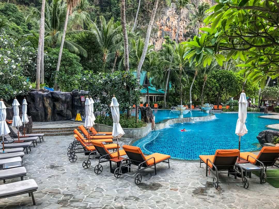 pool at centara best resorts in Krabi