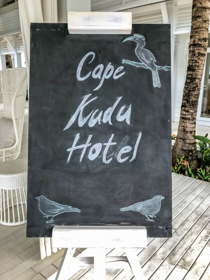 cape kudu sign