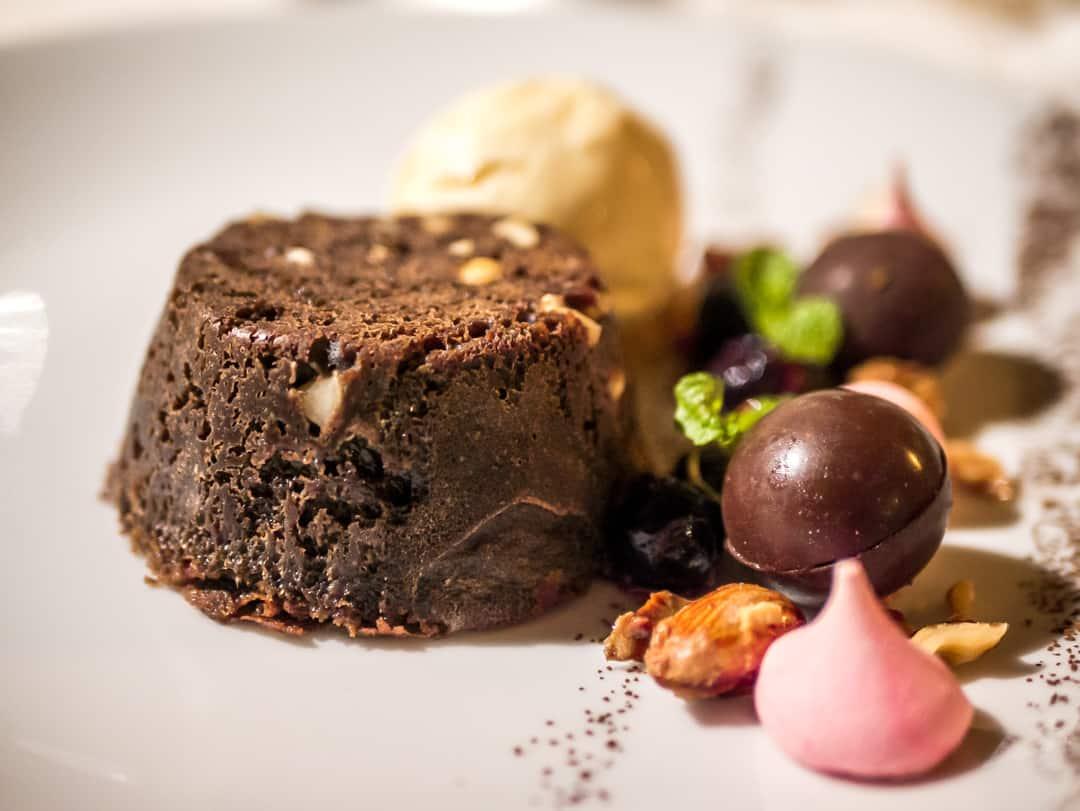 hazelnut chocolate fondant