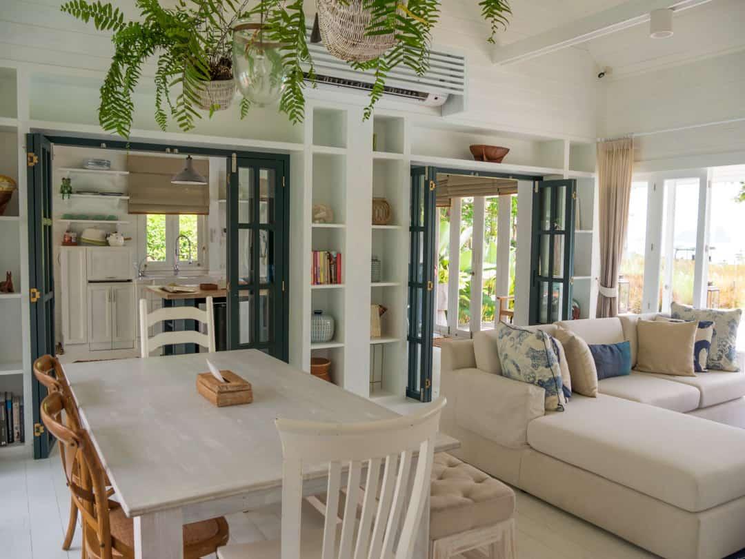 inside private villa