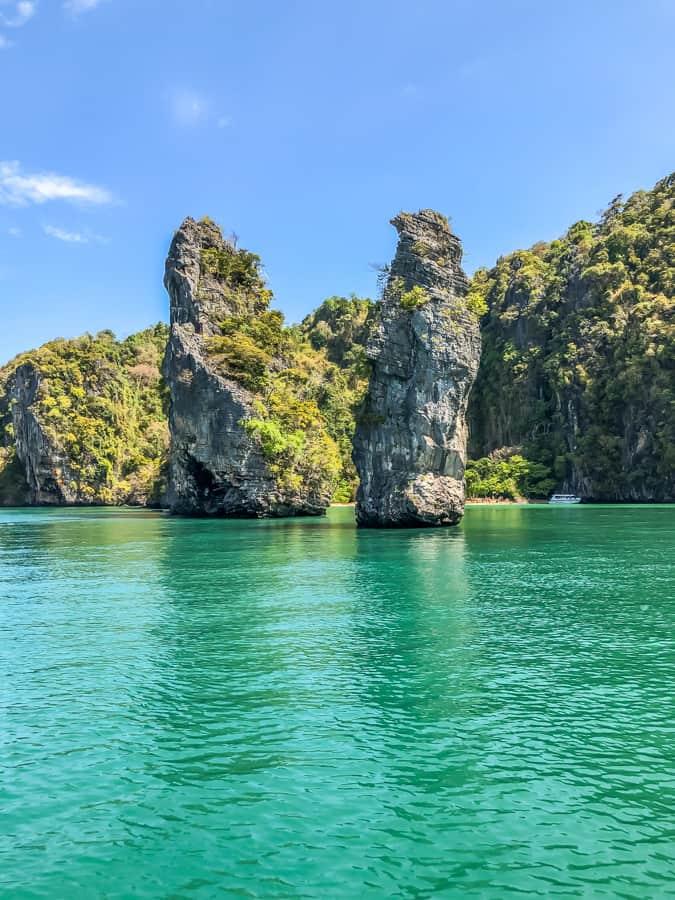 limestone islands near koh yao noi