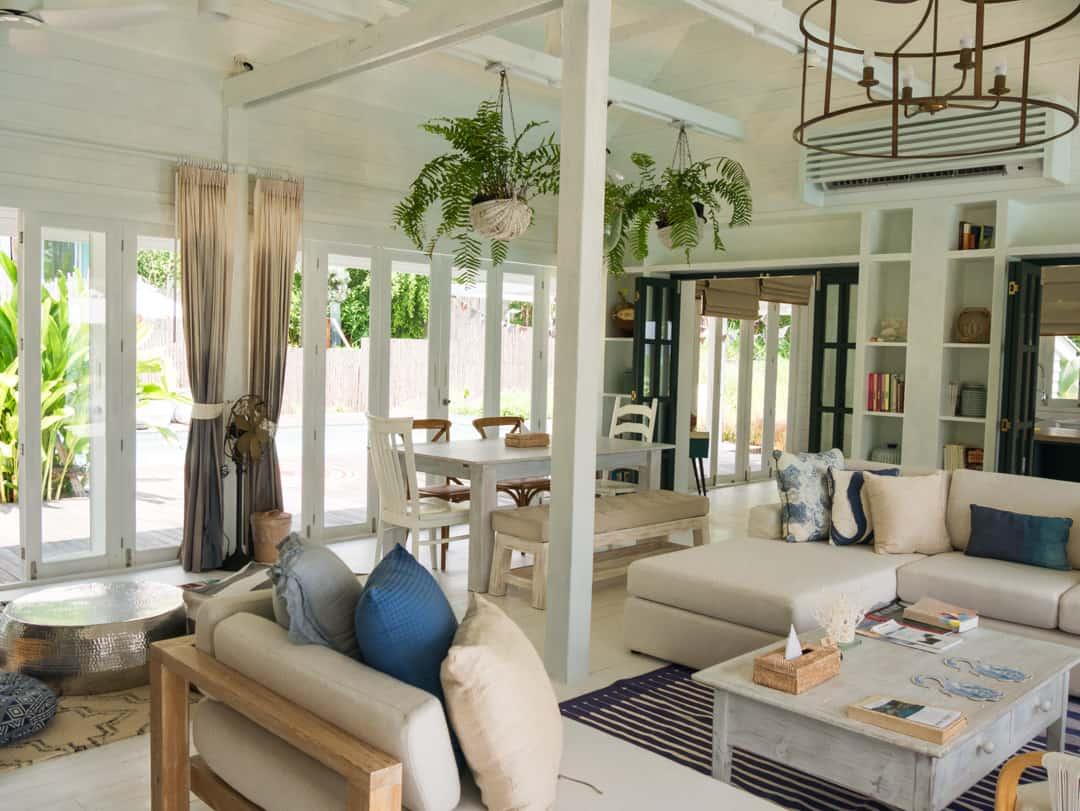 living room private villa