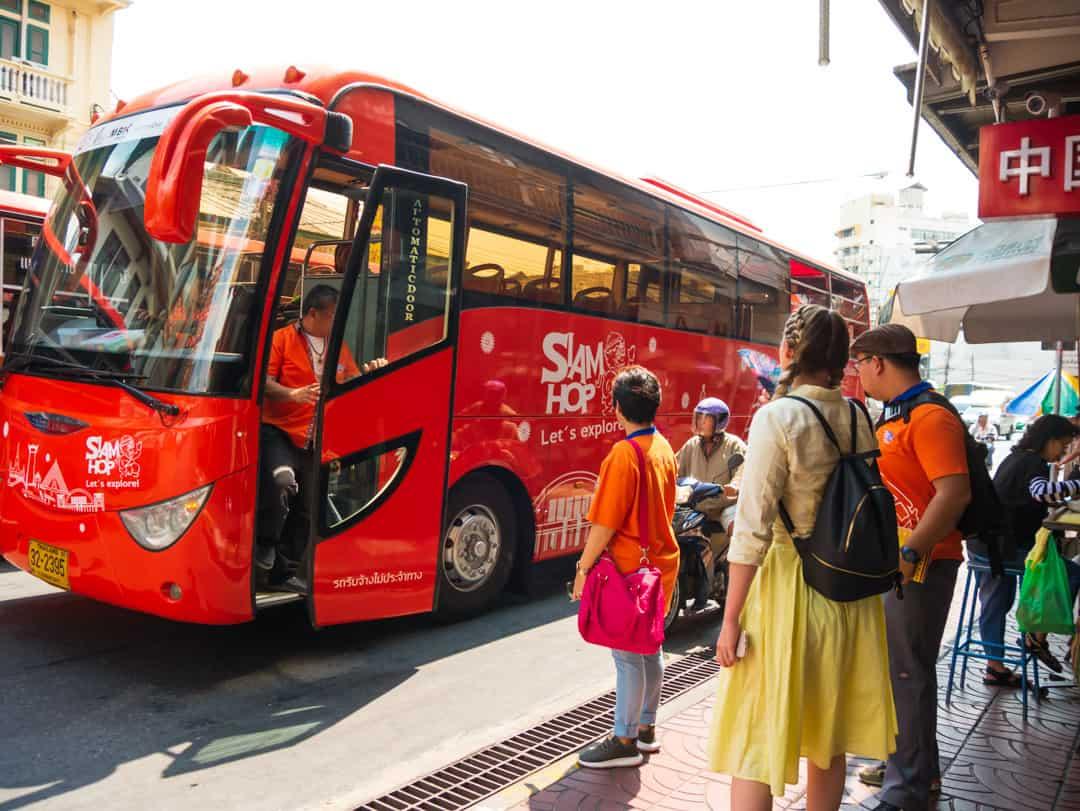 siam hop bus Hop-on-Hop-off bus Bangkok