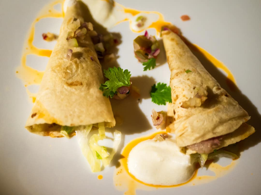 sous vide duck on soft tortillas salsa and tequila cream