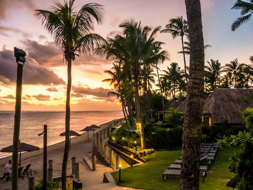 sunset outrigger fiji