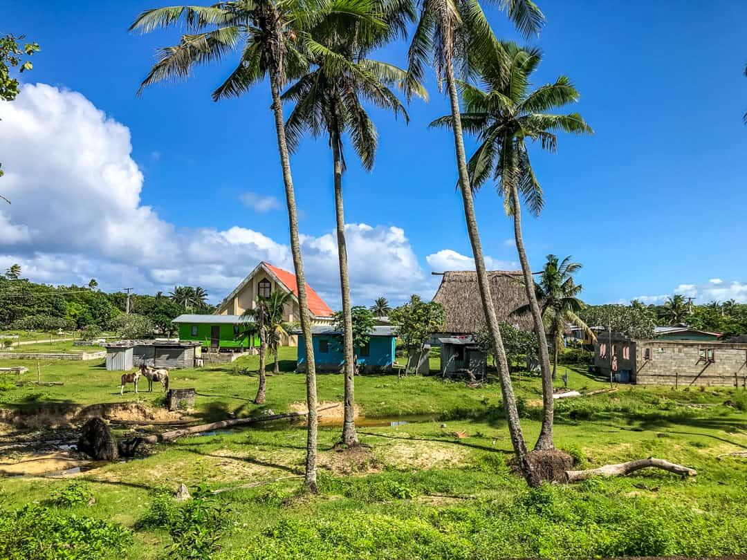 village near ocean