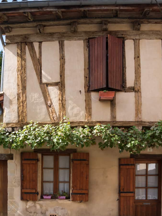 old timbered buildings