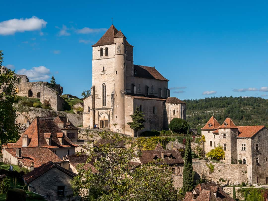 church saint cirq lapopie Lot Valley France