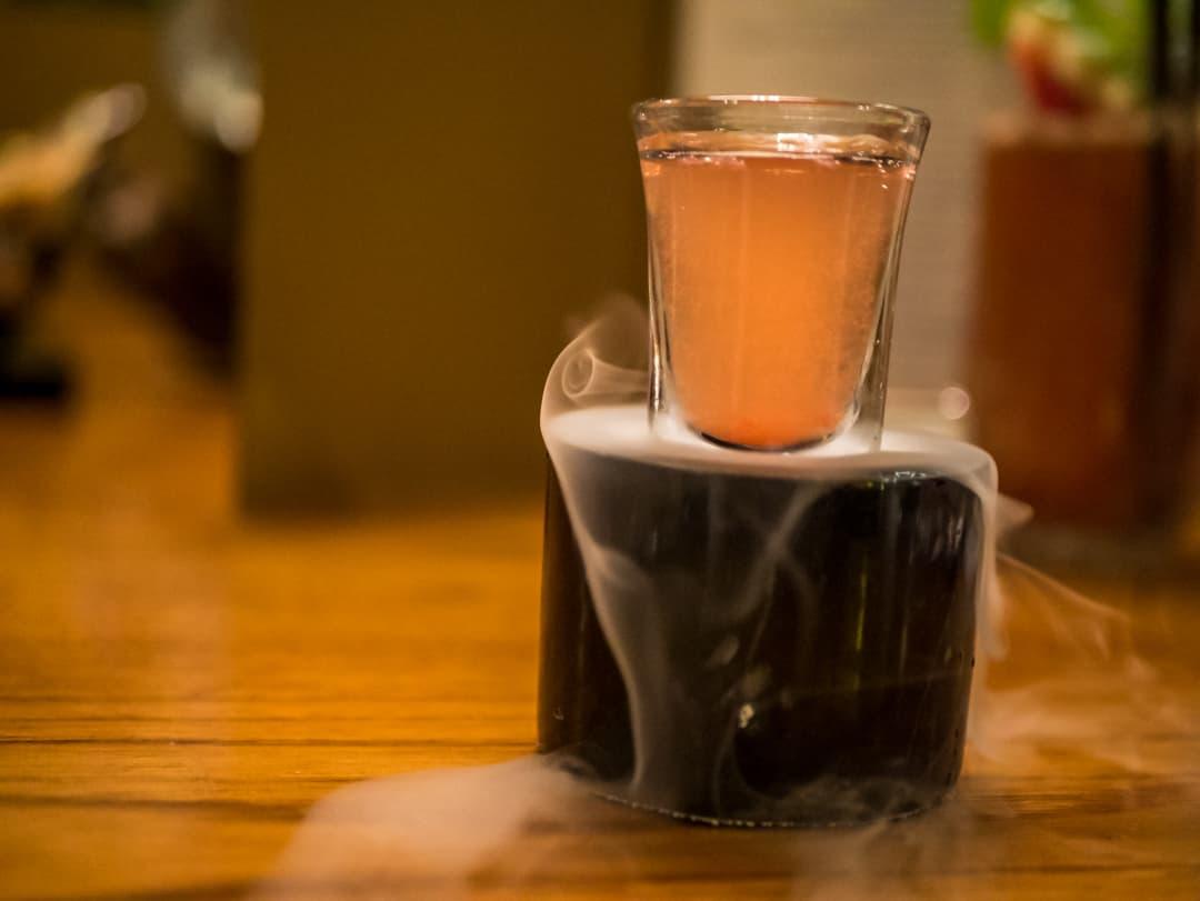 """""""Rainy Storm"""" - Maekhong, Lime juice, Spice Syrup, Soda"""