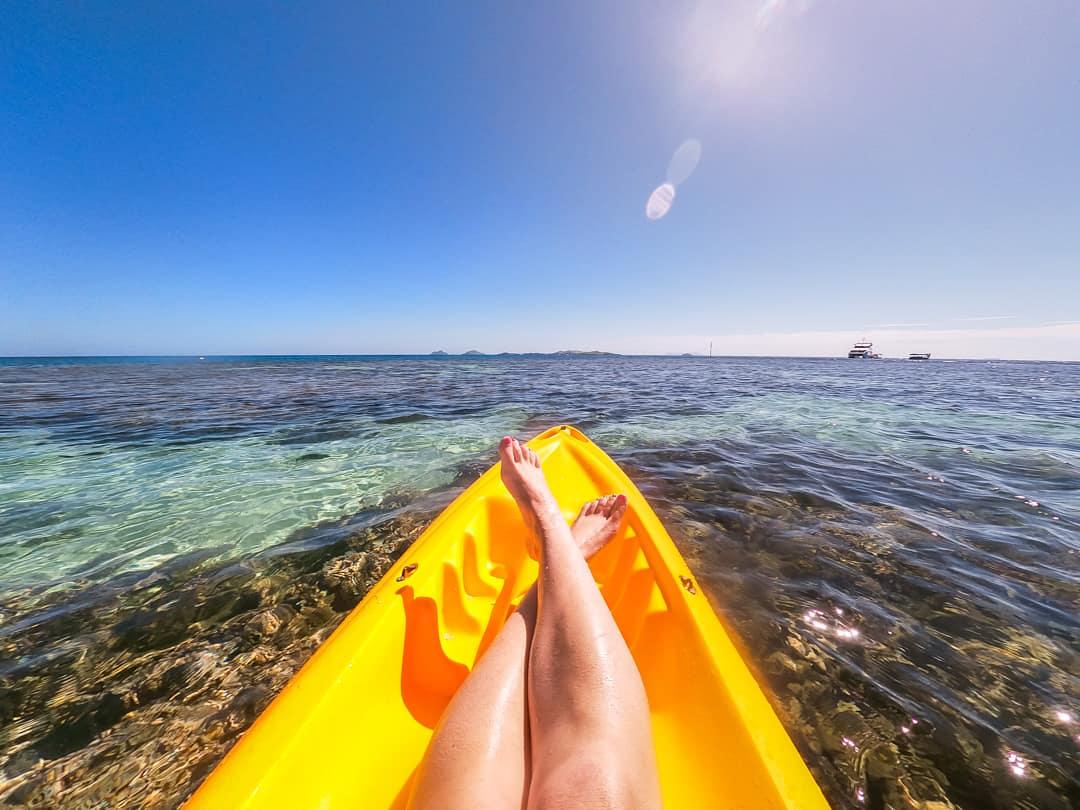 Kayaking off North Beach