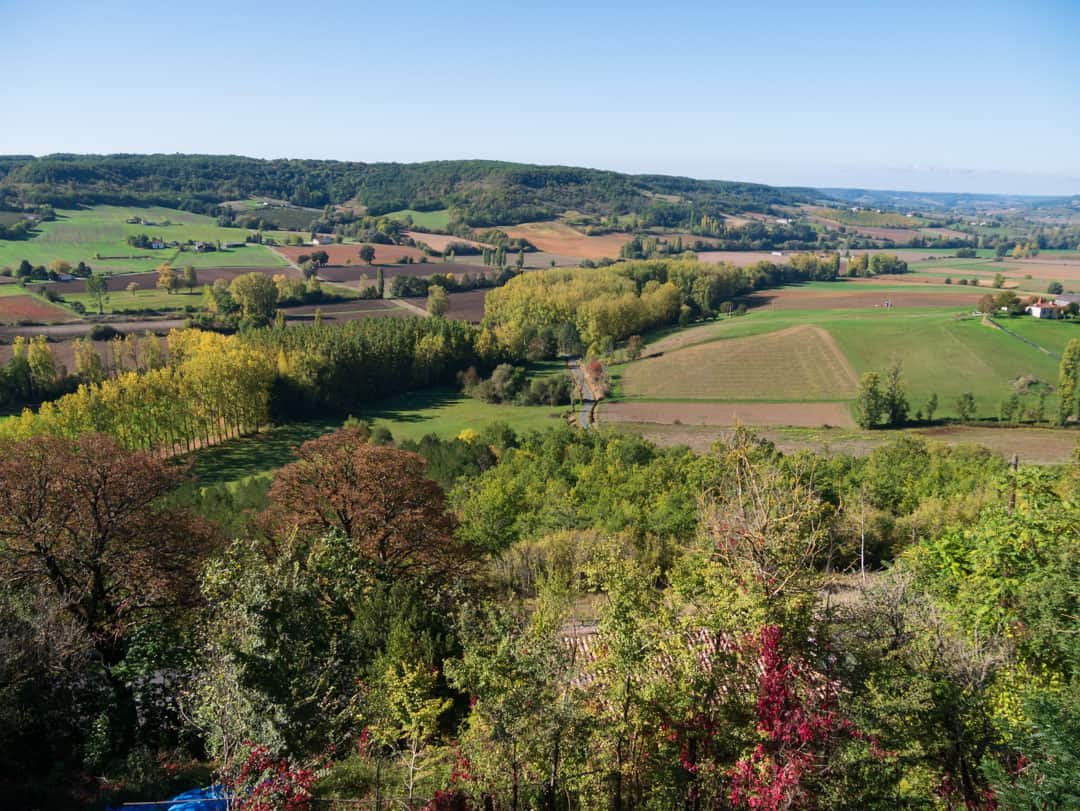 view from top of tournon