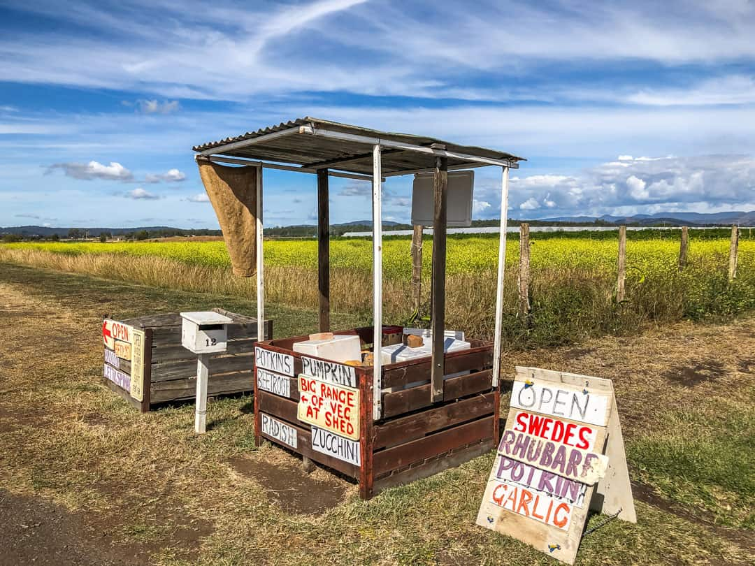 Lockyer Valley roadside stall